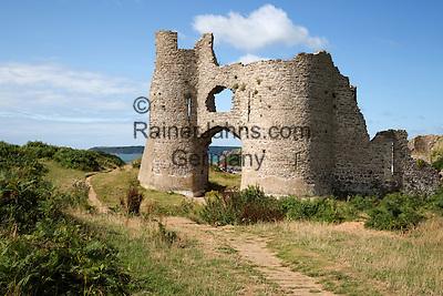 United Kingdom, Wales, Swansea, Gower Peninsula: Pennard Castle and Three Cliffs Bay | Grossbritannien, Wales, Swansea, Gower Halbinsel: Pennard Castle und Three Cliffs Bay