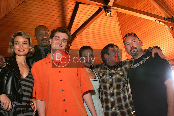 """Rena Riffel, Tony Todd, Director Josh Eisenstadt, Tiffany Shepis, Edward Furlong and Producer David Forline<br />on the set of the upcoming feature film """"Dark Reel"""" slated for June 2007 release. Private Location, Altadena, CA. 11-15-06<br />Dave Edwards/DailyCeleb.com 818-249-4998<br />Exclusive"""