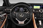 Car pictures of steering wheel view of a 2019 Lexus RC 300h-Privilege-Line 2 Door Coupe Steering Wheel
