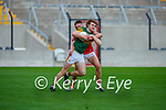 Paul Walsh Kerry takes on Cork's Tommy Walsh during the U20 MFC game in Pairc Uí Caoimh last Thursday evening