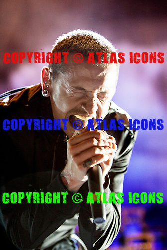 Linkin Park; Chester Bennington; 2007 Live<br /> Photo Credit: Justin Borucki/AtlasIcons.com