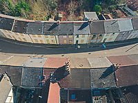 2019 02 25 Houses to be demolished because of river flooding in Merthyr Vales, Wales, UK