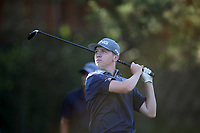 Gabe Bailey, with Bentonville West High School, tees off on the first hole of play Tuesday, August 18, 2020, during the Springdale Bulldog Invitational boys golf tournament at the Springdale Country Club. Check out nwaonline.com/200819Daily/ and nwadg.com/photos for a photo gallery.<br /> (NWA Democrat-Gazette/David Gottschalk)