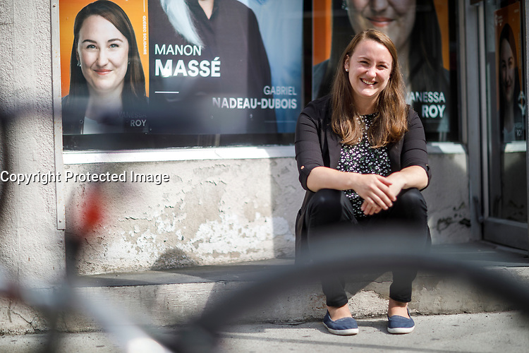 Vanessa Roy,candidate Quebec Solidaire Verdun<br /> <br /> elections 2018<br /> <br /> PHOTO : Agence Quebec Presse