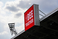 1st May 2021; Brentford Community Stadium, London, England; English Football League Championship Football, Brentford FC versus Watford; Scoreboard displaying Bee Together