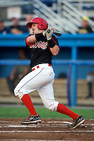 Batavia Muckdogs catcher Jonathan Keener #7 during a game against the State College Spikes at Dwyer Stadium on August 8, 2012 in Batavia, New York.  Batavia defeated State College 6-3.  (Mike Janes/Four Seam Images)