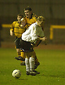25/03/2003                   Copright Pic : James Stewart.File Name : stewart-alloa v ayr 10.JAMES GRADY GOES IN HARD ON GARETH HUTCHISON....James Stewart Photo Agency, 19 Carronlea Drive, Falkirk. FK2 8DN      Vat Reg No. 607 6932 25.Office     : +44 (0)1324 570906     .Mobile  : +44 (0)7721 416997.Fax         :  +44 (0)1324 570906.E-mail  :  jim@jspa.co.uk.If you require further information then contact Jim Stewart on any of the numbers above.........