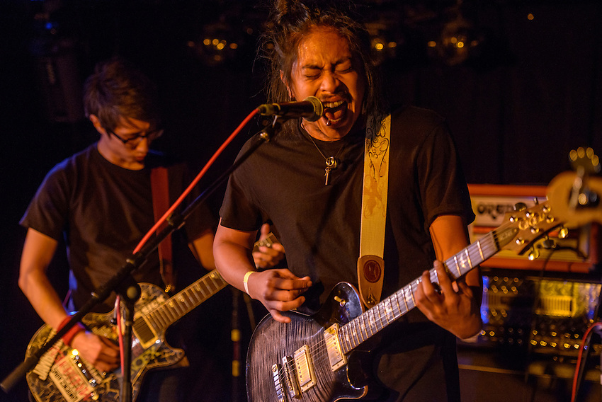 Winston Montecillo performs with Bad Friday as they open for Lavoy at Chilkoots.
