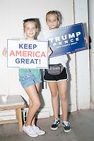 Donald Trump supporters - Iowa State Fair - Political Soapbox - Des Moines, Iowa - 10 Aug 2019