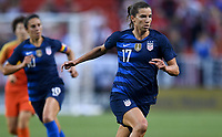 Cleveland, Ohio - Tuesday June 12, 2018: Tobin Heath during an international friendly match between the women's national teams of the United States (USA) and China PR (CHN) at FirstEnergy Stadium.