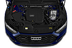 Car Stock 2021 Audi Q5 Edition-One 5 Door SUV Engine  high angle detail view