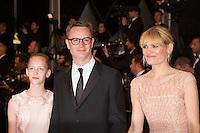 Nicolas Winding Refn (C) and Liv Corfixen (R) and Lola - CANNES 2106 - MONTEE DU FILM 'THE NEON DEMON'