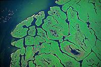 Kirr, Inseln im Bodden : EUROPA, DEUTSCHLAND, MECKLENBURG- VORPOMMERN 29.06.2013 Kirr ist eine Insel in der Darss-Zingster Boddenkette suedlich des Zingst an der deutschen Ostseekueste. Sie ist von der Halbinsel durch den Zingster Strom getrennt. Die zur Gemeinde Zingst gehoerende Insel liegt im Nationalpark Vorpommersche Boddenlandschaft.