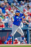 7 March 2019: New York Mets infielder Luis Guillorme at bat during a Spring Training Game against the Washington Nationals at the Ballpark of the Palm Beaches in West Palm Beach, Florida. The Nationals defeated the visiting Mets 6-4 in Grapefruit League, pre-season play. Mandatory Credit: Ed Wolfstein Photo *** RAW (NEF) Image File Available ***
