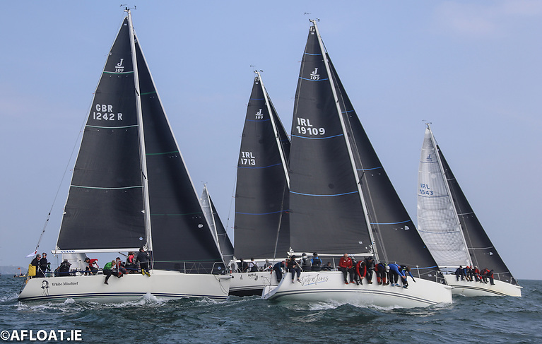 Part of a Class One start in the 24-boat fleet
