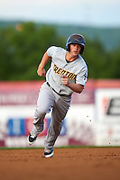 Trenton Thunder second basmean Tony Renda (9) running the bases during a game against the Binghamton Mets on August 8, 2015 at NYSEG Stadium in Binghamton, New York.  Trenton defeated Binghamton 4-2.  (Mike Janes/Four Seam Images)