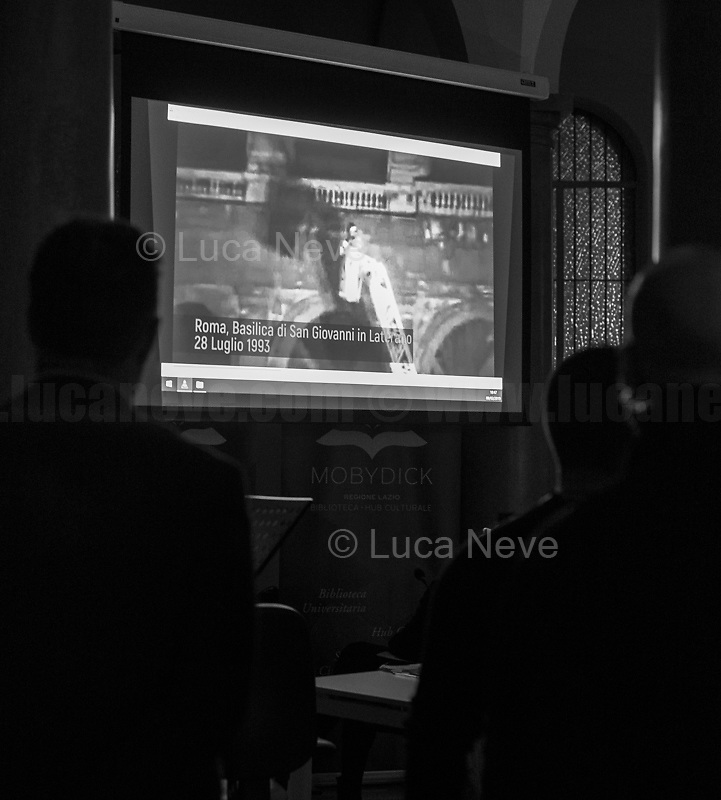 """Rome, San Giovanni in Laterano bombing (https://youtu.be/GEnI93fojh8).<br /> <br /> Rome, 08/02/19. Moby Dick Library & Antimafia Duemila (2.) held the presentation of the book """"Il Patto Sporco"""" (The Dirty Pact. The Trial State-mafia in the Story [narrated] by his Protagonist, Chiarelettere,1.) hosted by the author of the book Saverio Lodato (Journalist & Author), Antonino 'Nino' Di Matteo (Protagonist of the book, Antimafia Magistrate of Palermo, member of the DNA - Antimafia & Antiterrorism National Directorate - who """"prosecuted the Italian State for conspiring with the Mafia in acts of murder & terror"""",3.4.5.6.) & Giorgio Bongiovanni (Editor of Antimafia Duemila). Chair of the event was Silvia Resta (Journalist & Author). Readers were: Bianca Nappi & Carlotta Natoli (both Actresses). From the back cover of the book: """"Let us ask ourselves why politics, institutions, culture, have needed the words of judges to finally begin to understand…A handful of magistrates and investigators have shown not to be afraid to prosecute the [Italian] State. Now others must do their part too"""" (Nino Di Matteo). """"In the pages of this book I wanted the magistrate, the man, the protagonist and the witness to speak about a trial destined to leave its mark"""" (Saverio Lodato). From the book online page: """"The attacks to Lima [politician], Falcone & Borsellino [Judges], the bombs in Milan, Florence, Rome, the murders of valiant police commissioners & officers of the carabinieri. The [Ita] State on its knees, its best men sacrificed. However, while the blood of the massacres was still running there were those who, precisely in the name of the State, dialogued and interacted with the enemy. The sentence of condemnation of Palermo [""""mafia-State negotiation"""" trial which is told in the book], against the opinion of many 'deniers', proved that the negotiation not only was there but did not avoid more blood. On the contrary, it provoked it""""(1.).<br /> Footnotes/links at 2nd & last page."""