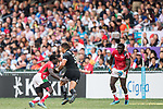 Kenya vs New Zealand during the their Semi-Finals match as part of the HSBC Hong Kong Rugby Sevens 2018 on 08 April 2018, in Hong Kong, Hong Kong. Photo by Chung Yan Man / Power Sport Images
