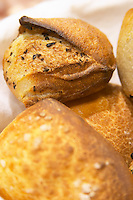 Corsica style bread, brown, round with grains, France