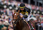 LOUISVILLE, KY - MAY 0:  Wild Shot #8 with Corey Lanerie up wins the Pat Day Mile  at Churchill Downs on May 6, 2017 in Louisville, Kentucky. (Photo by Alex Evers/Eclipse Sportswire/Getty Images)