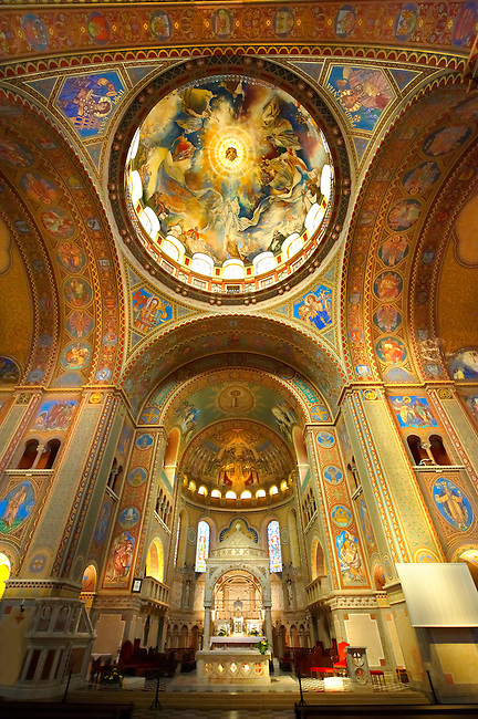 Interior of the Voitive Cathedral of Szeged, Dom Square, Hungary
