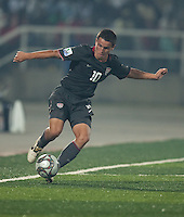 Luis Gil controls the ball. Spain defeated the U.S. Under-17 Men National Team  2-1 at Sani Abacha Stadium in Kano, Nigeria on October 26, 2009.