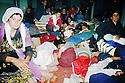 Iran 1991 In Piranshar, Iraqi Kurdish refugees finding shelter on their way to camps Iran 1993 Abri de fortune pour des Kurdes irakiens  a Piranshar avant d'etre transferes dans un camp