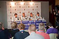 17-06-10, Tennis, Rosmalen, Unicef Open, Persconferentie Daviscup, v.l.n.r.: Robin Haase, Captain Jan Siemerink, Thiemo de Bakker en Igor Sijsling
