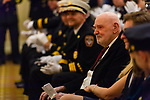 WATERBURY, CT. 20 December 2019-122019BS247 - Waterbury Fire Chief Terry Ballou's father Joe Ballou looks on as his son addresses fellow firefighters, family and friends in attendance, during the swearing in ceremony for Waterbury Fire Chief at City Hall on Friday. Terry Ballou replaces former Fire Chief David Martin, who retired earlier this year. Bill Shettle Republican-American