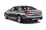 Car pictures of rear three quarter view of 2016 BMW 7 Series 4 Door Sedan Angular Rear