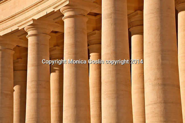 Columns that border St. Peter's Square