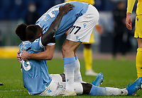Lazio s Felipe Caicedo, right, celebrates with his teammate Adam Marusic after scoring during the Serie A soccer match between Lazio and Hellas Verona at Rome's Olympic Stadium, December 12, 2020.<br /> UPDATE IMAGES PRESS/Riccardo De Luca