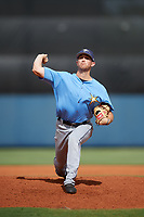 Tampa Bay Rays pitcher Alan Strong (41) delivers a pitch during a Florida Instructional League game against the Baltimore Orioles on October 1, 2018 at the Charlotte Sports Park in Port Charlotte, Florida.  (Mike Janes/Four Seam Images)