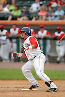 C-INF Christian Vazquez of the Lowell Spinners, the short season NY-P affiliate of the Boston Red Sox ,at LeLacheur Field in Lowell, MA on August 9, 2009. (Photo by Ken Babbitt/Four Seam Images)