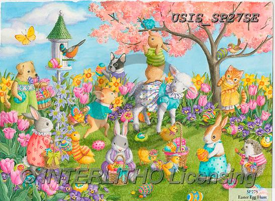 Ingrid, CHILDREN, KINDER, NIÑOS, paintings+++++,USISSP27SE,#k#, EVERYDAY,easter,rabbits,chicken