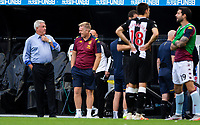 Aston Villa manager Dean Smith has a word with Newcastle United manager Steve Bruce after the game<br /> <br /> Photographer Alex Dodd/CameraSport<br /> <br /> The Premier League - Newcastle United v Aston Villa - Wednesday 24th June 2020 - St James' Park - Newcastle <br /> <br /> World Copyright © 2020 CameraSport. All rights reserved. 43 Linden Ave. Countesthorpe. Leicester. England. LE8 5PG - Tel: +44 (0) 116 277 4147 - admin@camerasport.com - www.camerasport.com