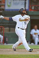Burlington Bees Alexi Rivera (51) swings during the Midwest League game against the Peoria Chiefs at Community Field on June 9, 2016 in Burlington, Iowa.  Peoria won 6-4.  (Dennis Hubbard/Four Seam Images)
