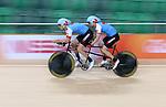 Jean-Michel Lachance and Daniel Chalifour, Rio 2016 - Para Cycling // Paracyclisme.<br /> Para Cycling participates in a track cycling training session // Para Cycling participe à une session d'entraînement de cyclisme sur piste. 03/09/2016.