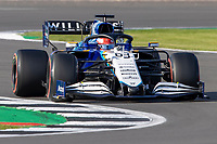 16th July 2021; Silverstone Circuit, Silverstone, Northamptonshire, England; Formula One British Grand Prix,  and Qualifying; Williams Racing driver George Russell in his Williams FW43B Mercedes-AMG F1 M12