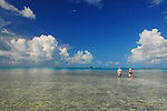 BLUE SKY IN LOS ROQUES WHILE FLY FISHING