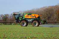 22.11.2020 Contractor spraying Winter wheat in Rutland<br /> ©Tim Scrivener Photographer 07850 303986<br />      ....Covering Agriculture In The UK....