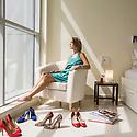 UAE - Dubai - Giulia Arnaboldi fotografata a casa sua a Dubai Marina.