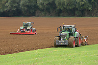 1.10.2020 Ploughing and power harrowing in Lincolnshire <br /> ©Tim Scrivener Photographer 07850 303986<br />      ....Covering Agriculture In The