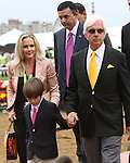Bob Baffert, his wife Jill and son Bodie before the 138th  running of the Grade I Preakness Stakes for 3-year olds, going 1 3/16 mile, at Pimlico Race Course.  Trainer D. Wayne Lukas.  Owners Calumet Farms