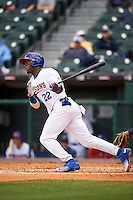 Buffalo Bisons right fielder Junior Lake (22) during a game against the Toledo Mudhens on May 18, 2016 at Coca-Cola Field in Buffalo, New York.  Buffalo defeated Toledo 7-5.  (Mike Janes/Four Seam Images)