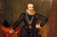 Europe/France/Aquitaine/64/Pyrénées-Atlantiques/Pau: Le musée du château - Vase peint représentant Henri IV dans le salon de réception
