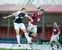 05/05/2010   Copyright  Pic : James Stewart.sct_js002_falkirk_v_st_johnstone  .::  SCOTT ARFIELD GETS ABOVE CHRIS MILLAR ::  .James Stewart Photography 19 Carronlea Drive, Falkirk. FK2 8DN      Vat Reg No. 607 6932 25.Telephone      : +44 (0)1324 570291 .Mobile              : +44 (0)7721 416997.E-mail  :  jim@jspa.co.uk.If you require further information then contact Jim Stewart on any of the numbers above.........