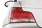 Tail light close up detail view of a 2007 - 2011 BMW 1-Series 128i convertible.
