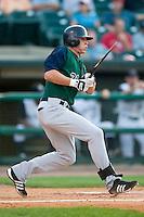 Charlotte center fielder Ryan Sweeney (31) breaks his bat versus Louisville at Louisville Slugger Field in Louisville, KY, Wednesday, June 6, 2007.