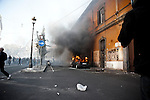 Rome 15th October 2011<br /> The Day of the Anger<br /> European Demonstration started peaceful and ended up with guerrilla scenes. Black Bloc attacked the demonstrators and Police. Rome was on fire for a few hours